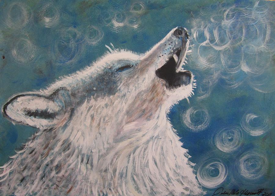 Howling Painting by Julia Rita Theriault