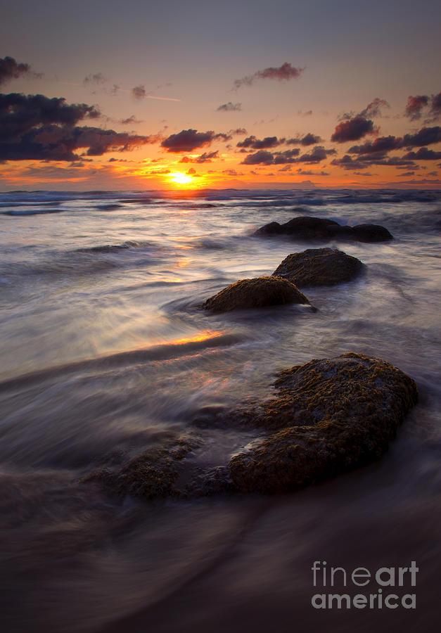 Hug Point Photograph - Hug Point Tides by Mike  Dawson