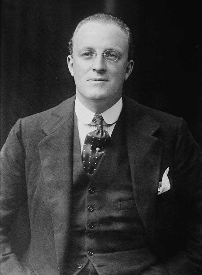 History Photograph - Hugh Walpole 1884-1941, New Zealand by Everett
