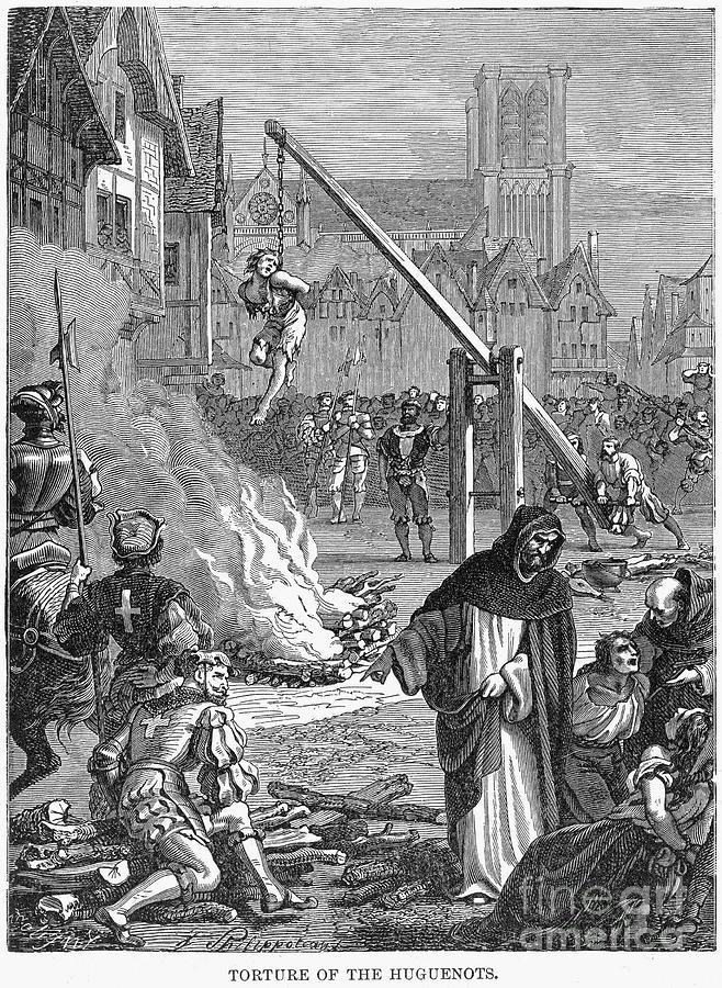 16th Century Photograph - Huguenots: Persecution by Granger