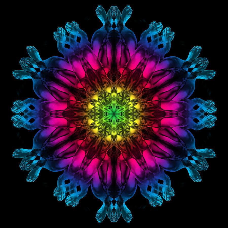 Psychedelic Photograph - Humandala 3 by David Kleinsasser