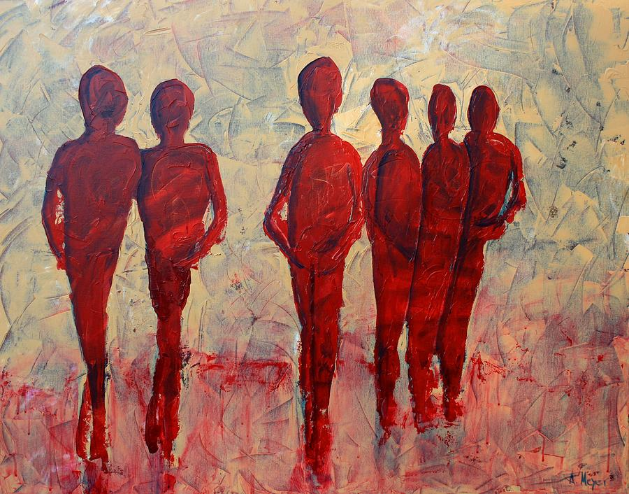 Abstract Painting - Humans by Andrea Meyer