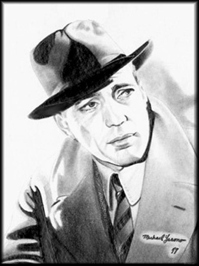 Humphreydeforestbogart Drawing - Humphrey Bogart by Michael Yacono