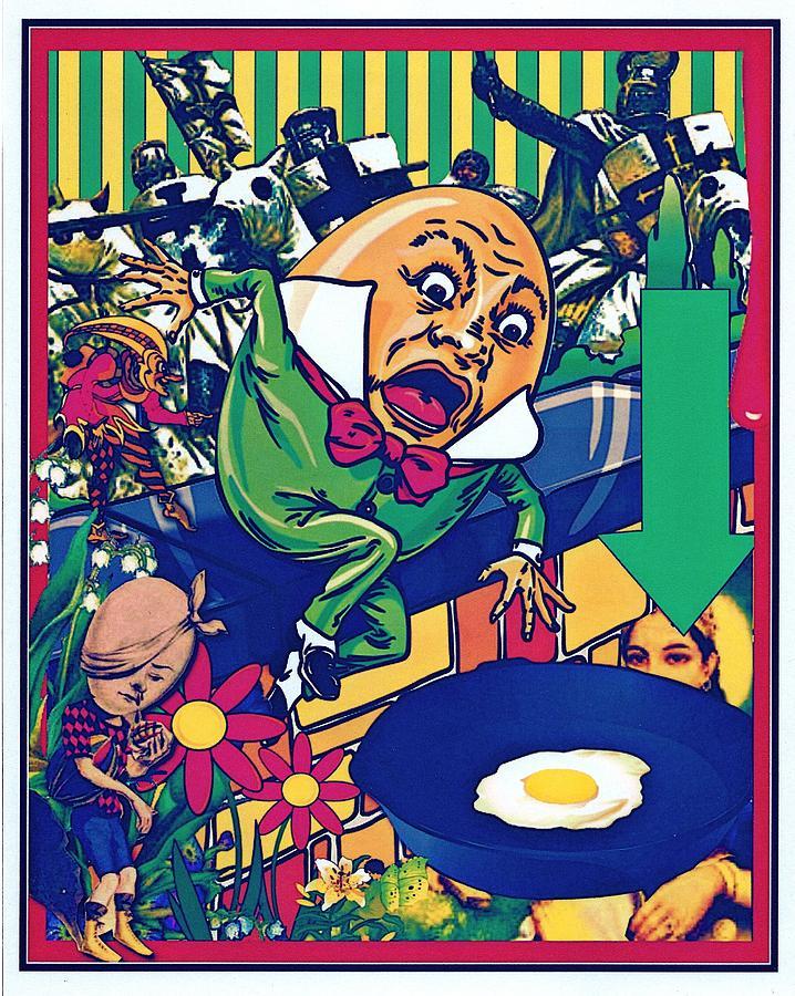 Humpty Dumpty Digital Art - Humpty Got Pushed by Janiece Senn