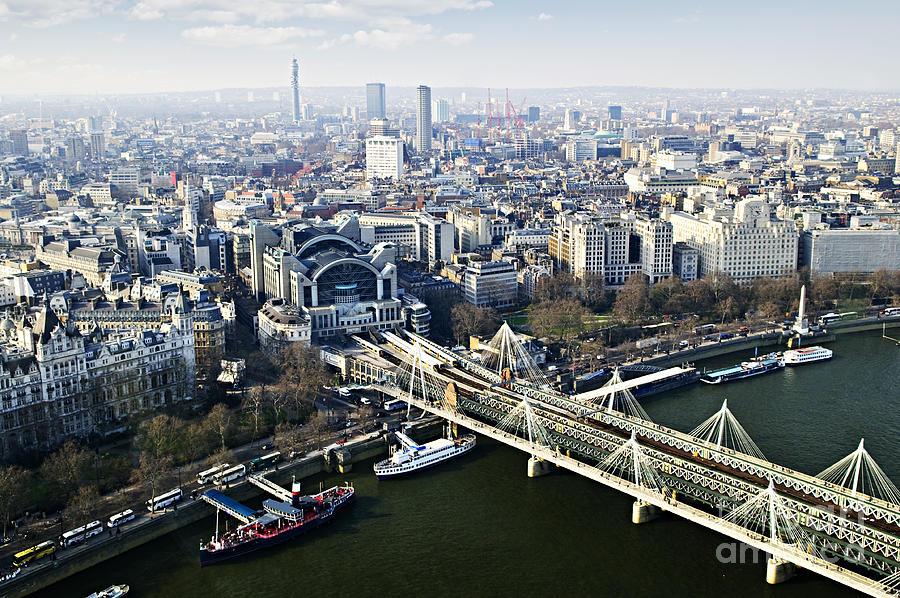 Hungerford Photograph - Hungerford Bridge Seen From London Eye by Elena Elisseeva