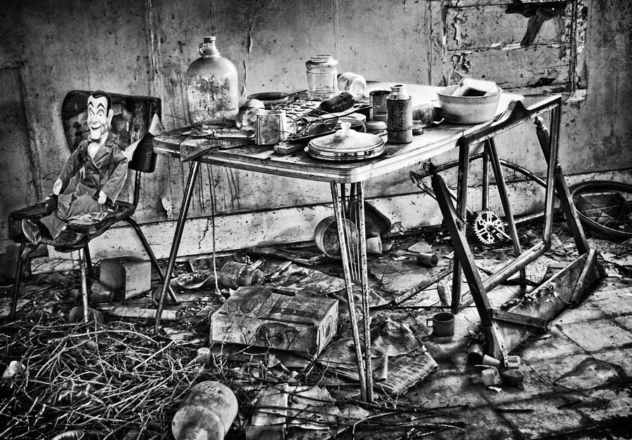 Old Kitchen Photograph - Hungry Helpers by Empty Wall