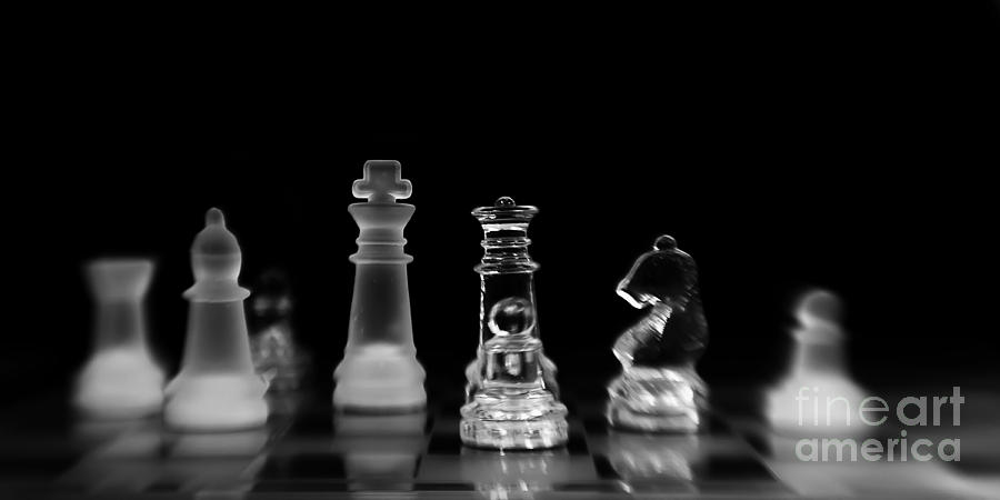 Chess Photograph - Hunt For The King by Priska Wettstein