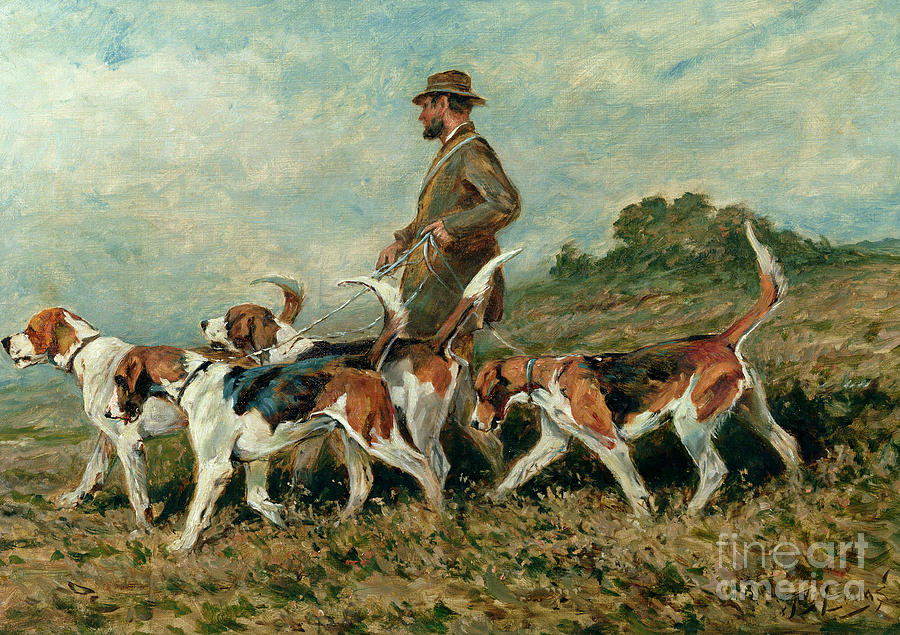 Foxhounds Painting - Hunting Exercise by John Emms