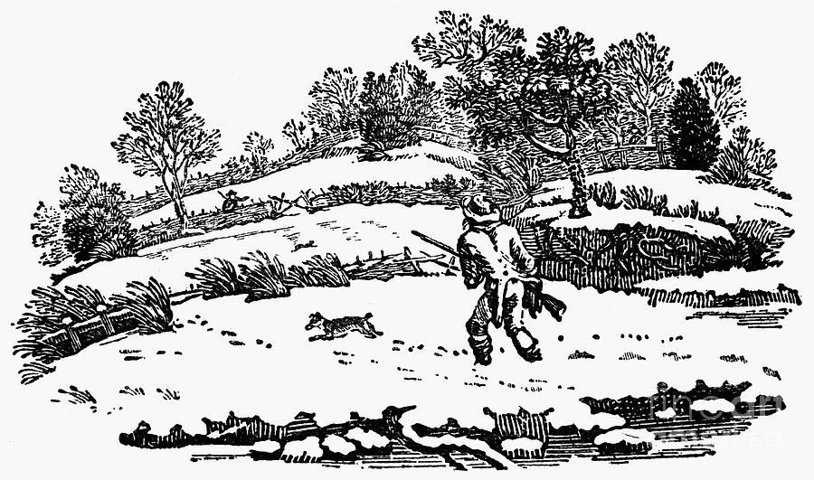 1753 Photograph - Hunting: Winter, C1800 by Granger