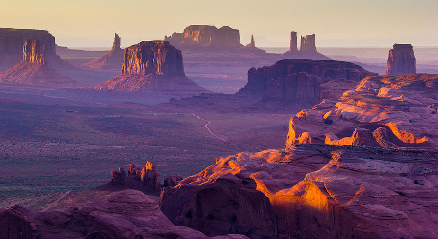 Monument Valley Photograph - Hunts Mesa by Francesco Riccardo  Iacomino
