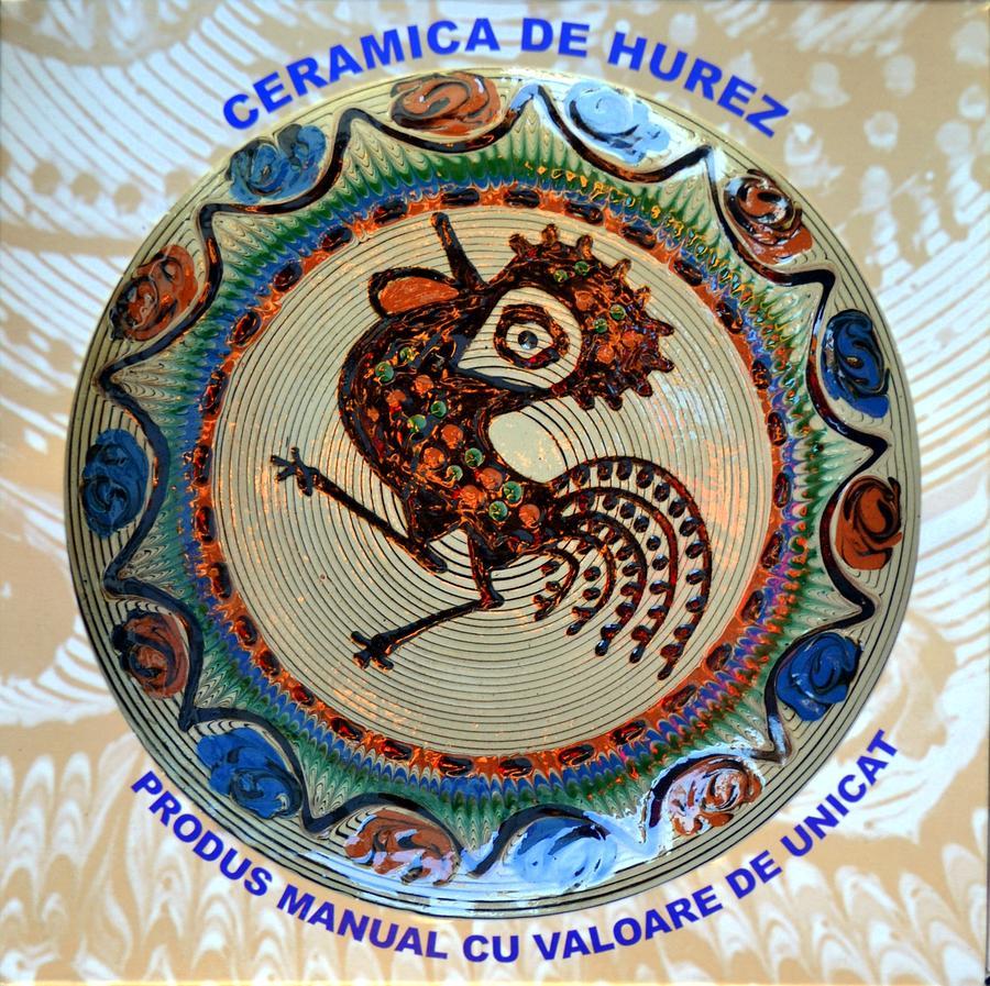 Handmade Painting - Hurez Cock by Ion Relu