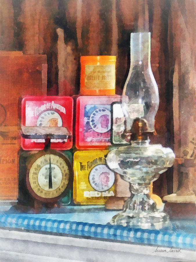 Lamp Photograph - Hurricane Lamp And Scale by Susan Savad