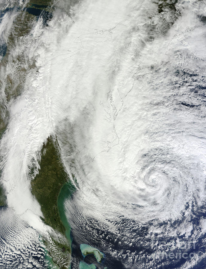 Vertical Photograph - Hurricane Sandy Off The Southeastern by Stocktrek Images