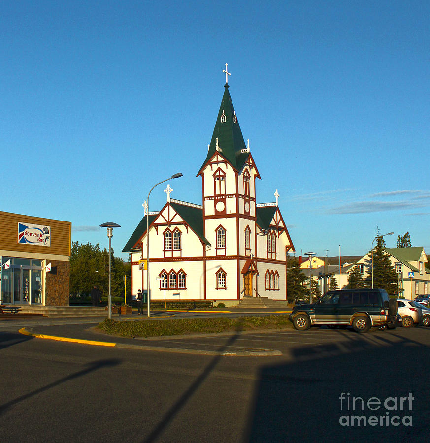 Husavik Photograph - Husavik Iceland Church by Gregory Dyer
