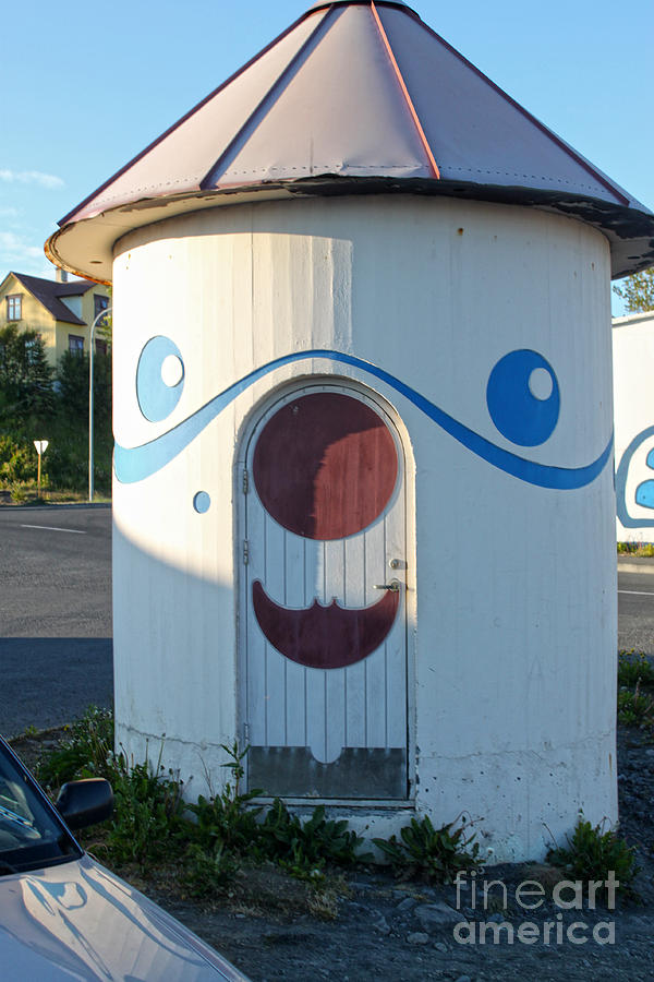 Husavik Photograph - Husavik Iceland Funny Building by Gregory Dyer