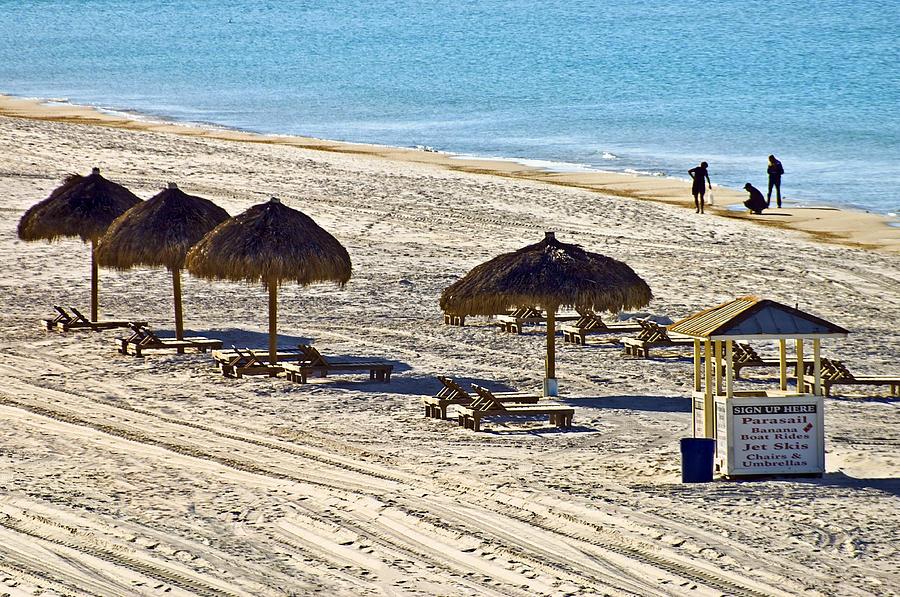 Ocean Photograph - Huts On The Beach by Susan Leggett