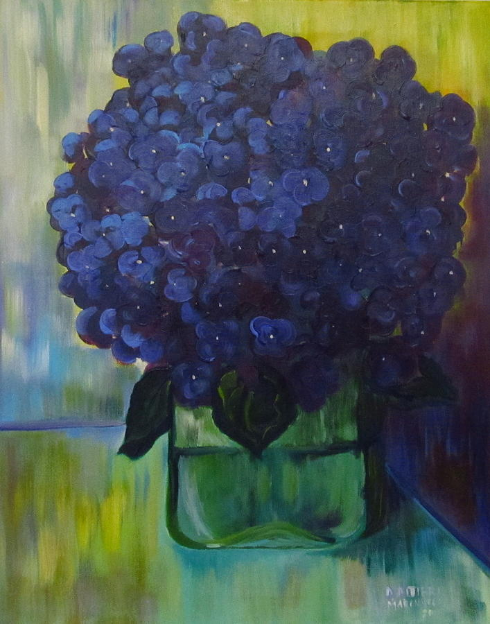 Floral Painting - Hydrangeas by Dani Altieri Marinucci