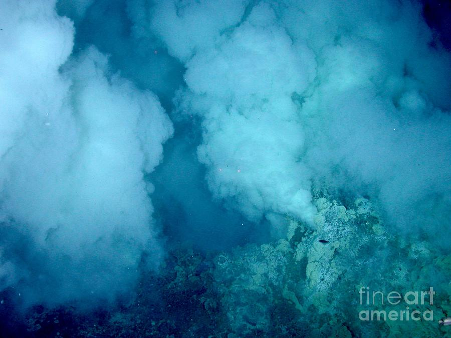 Hydrothermal Vent Photograph - Hydrothermal Smoker Vent by Science Source
