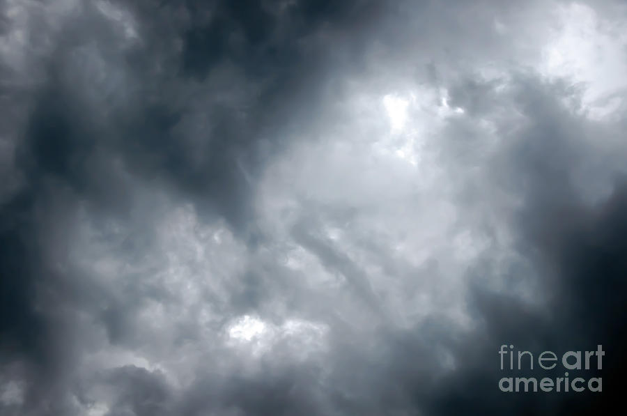 Ominous Photograph - I Am No Storm Chaser Cloud by Andee Design