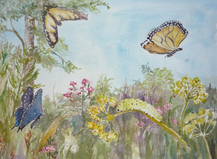 Butterflys Painting - I Am Not A Worm by Dorothy Herron