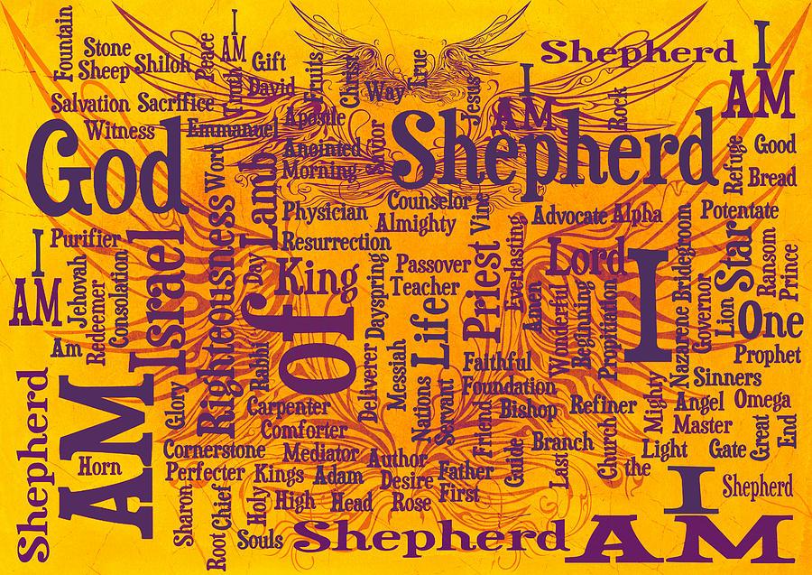 Advocate Digital Art - I Am Shepherd 2 by Angelina Vick