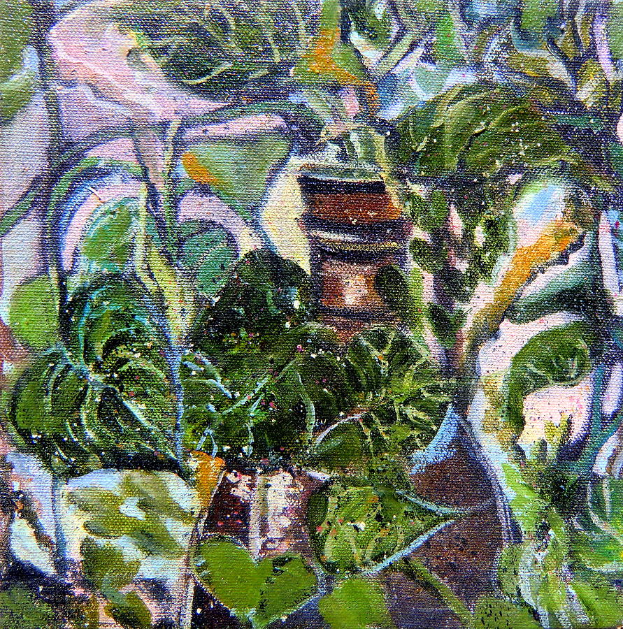 Ivy Painting - I Am The Vine by Mindy Newman