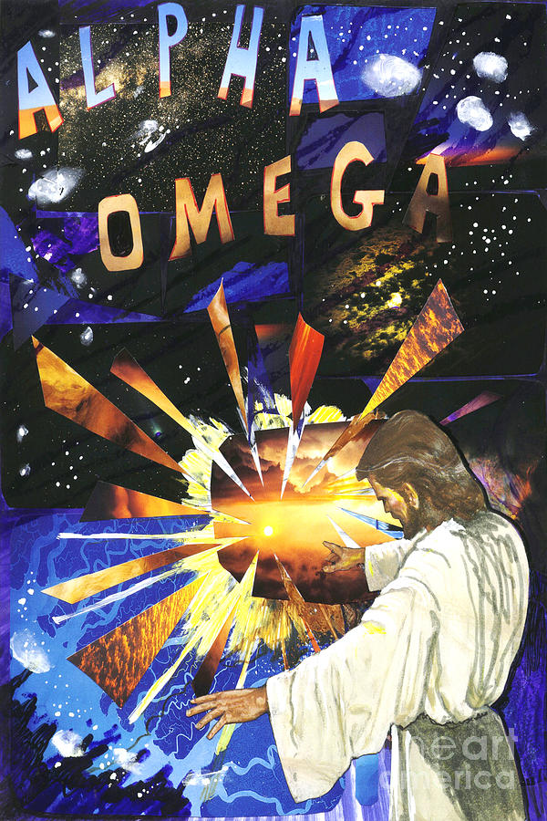 New Testament Mixed Media - I Am...alpha And Omega by Peter Olsen