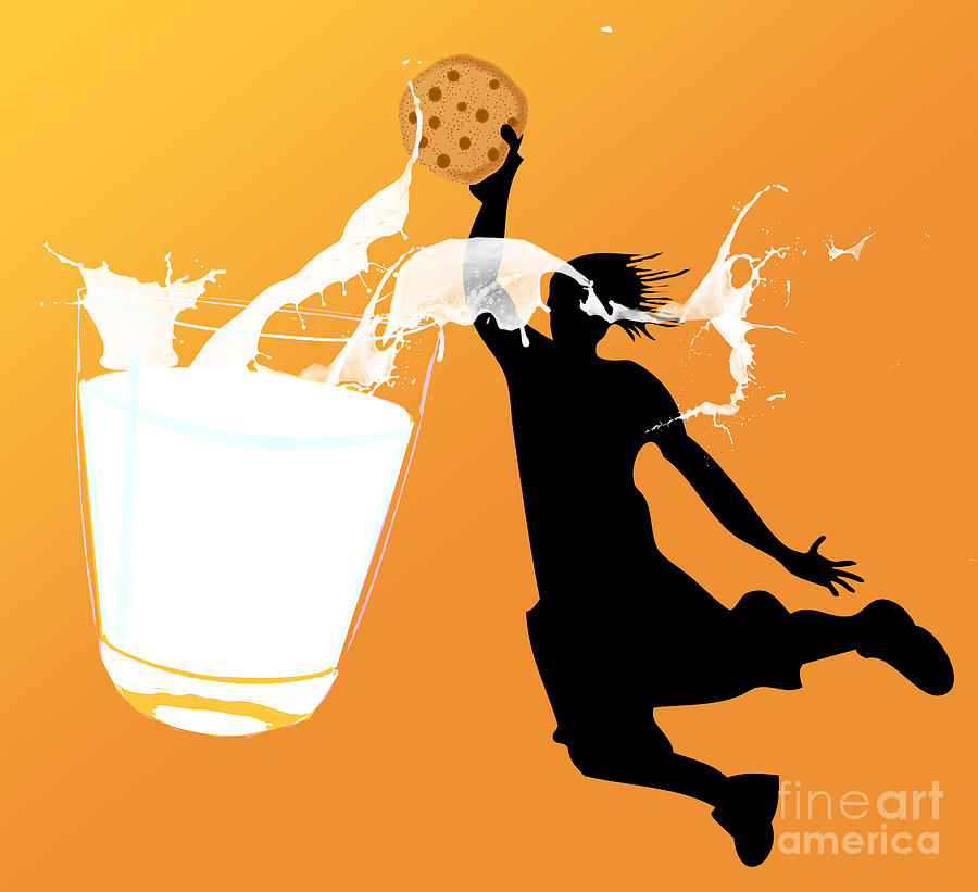 Cookies Digital Art - I Can Dunk by Laura Brightwood