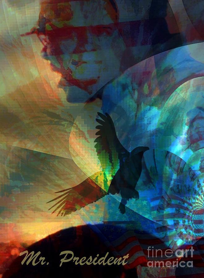 Fania Simon Mixed Media - I Cry Mr. President by Fania Simon