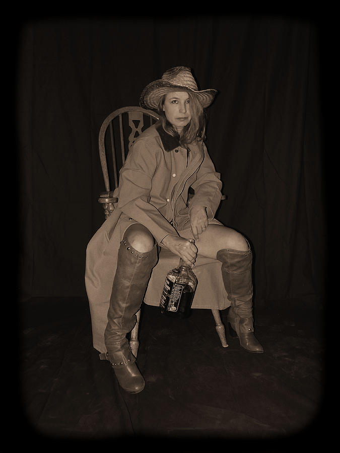 Cowgirl Photograph - I Dare Ya To Try by Cynthia Nunn