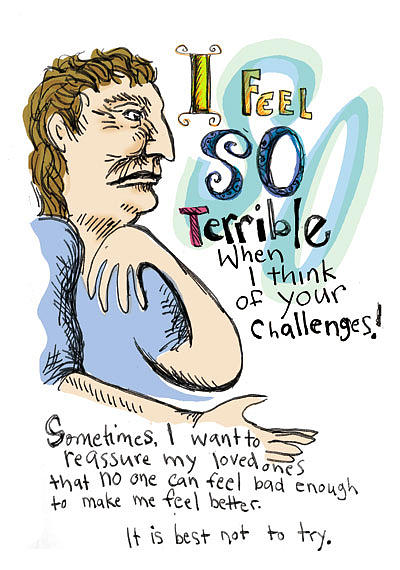 Feel Drawing - I Feel So Terrible When I Think Of Your Challenges by Erella Ganon