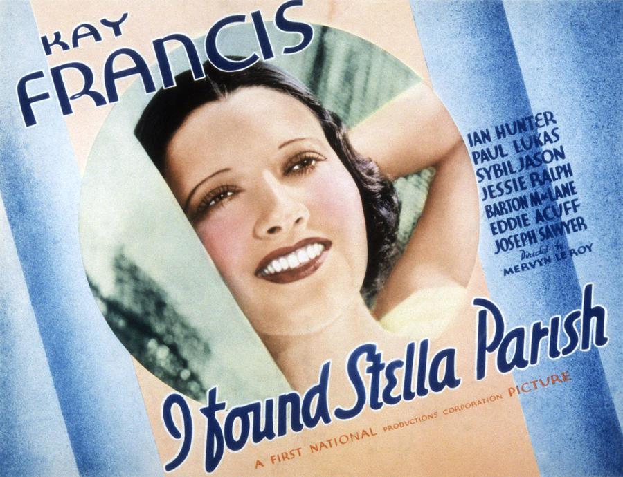 1930s Movies Photograph - I Found Stella Parish, Kay Francis, 1935 by Everett