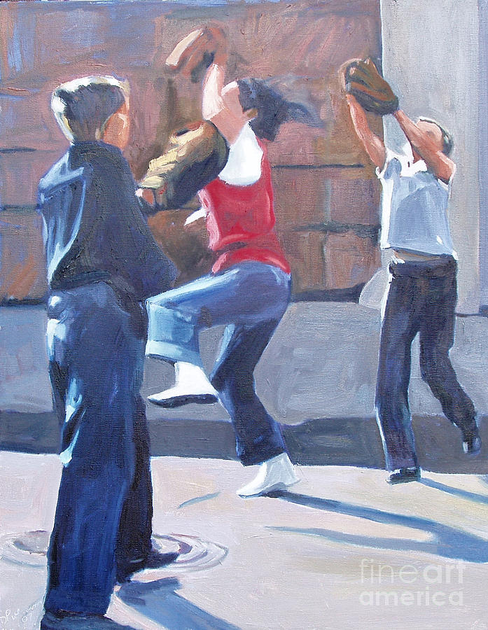 Baseball Painting - I Got It by Deb Putnam