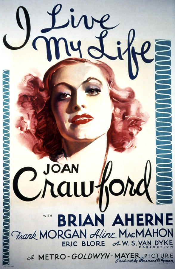 1930s Movies Photograph - I Live My Life, Joan Crawford, 1935 by Everett