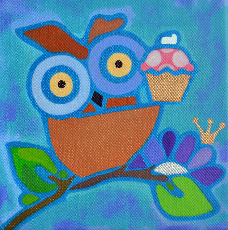 Cupcakes Painting - I Love Cupcakes by Jenny Valdez