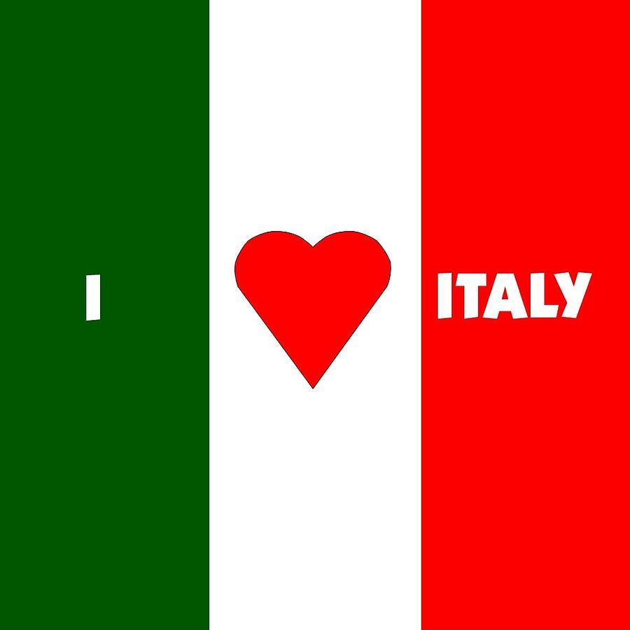 Italian Digital Art - I Love Italy by Florene Welebny