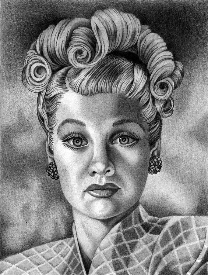 I Love Lucy Drawing - I Love Lucy by Mitzie Bower