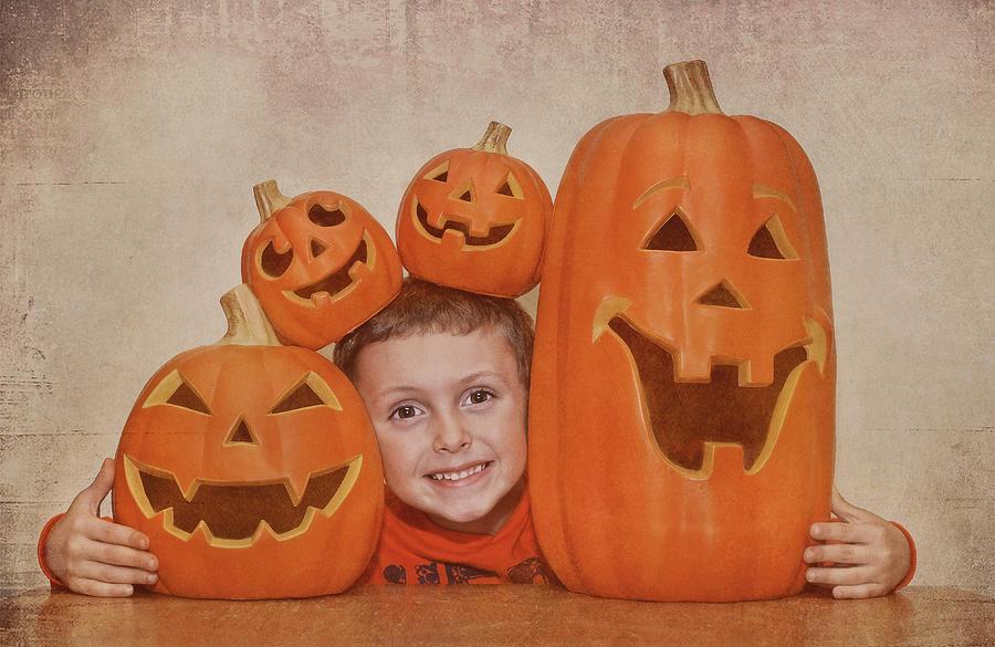 People Photograph - I Love Pumpkins by Pat Abbott