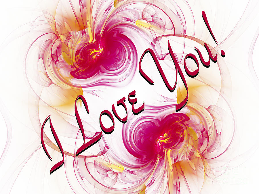 i love you card 1 digital art by andee design