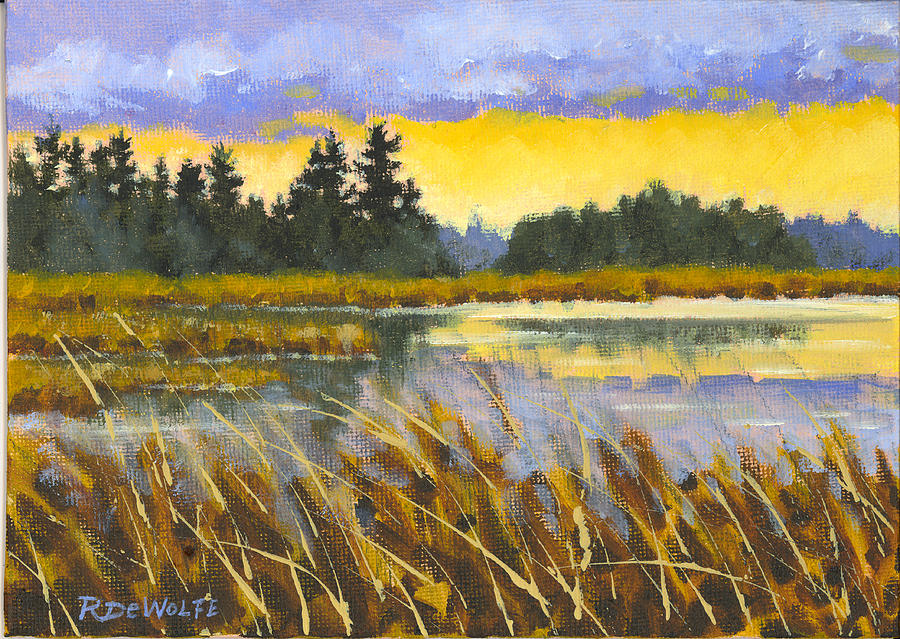Marsh Painting - I Saw The Light by Richard De Wolfe