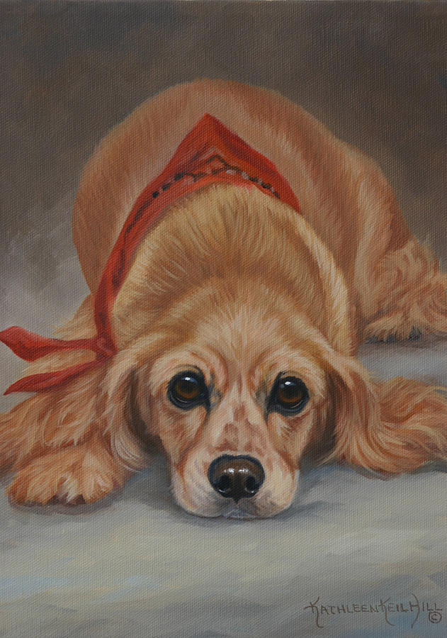 Dogs Painting - I Shoulda Been A Cowboy by Kathleen  Hill