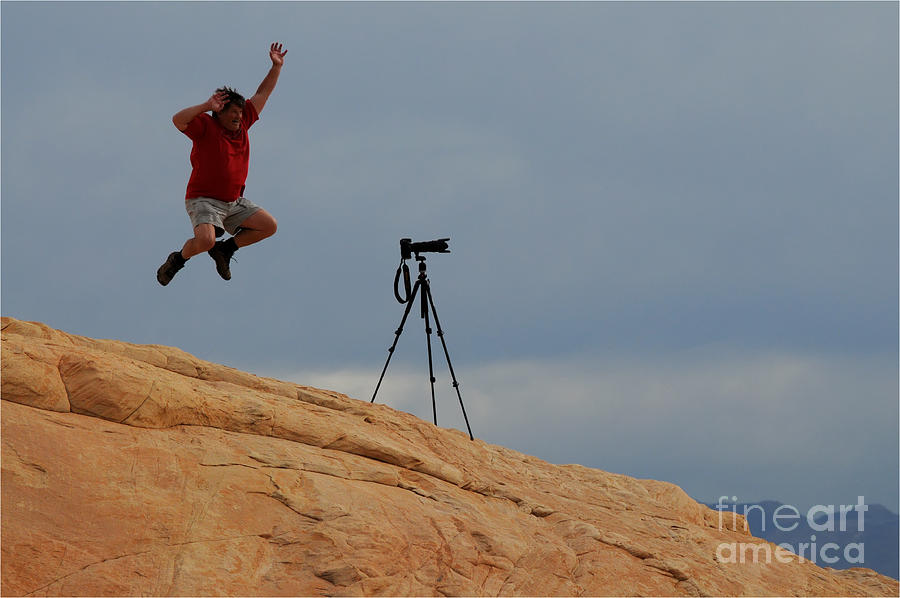 Camera Photograph - I Think He Got The Shot by Vivian Christopher
