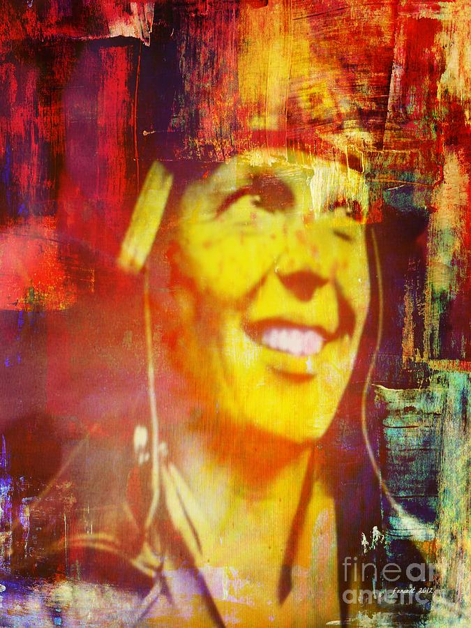 Amelia Earhart Mixed Media - I Want To Do Something Useful In The World by Fania Simon