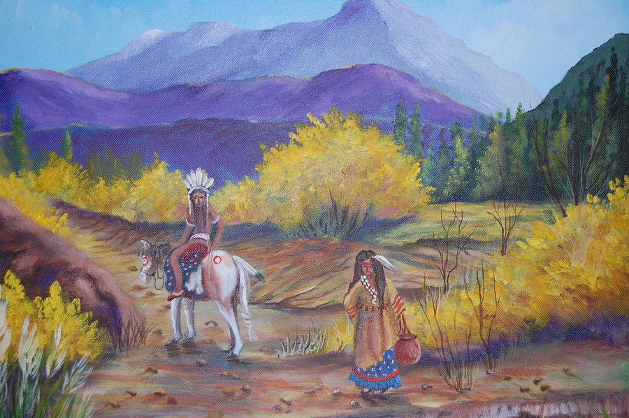 Purple Mountains Painting - I Want To Go Home by Janna Columbus