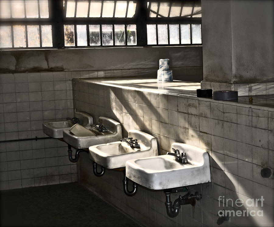 Bathroom Photograph - I Wash My Hands by Gwyn Newcombe