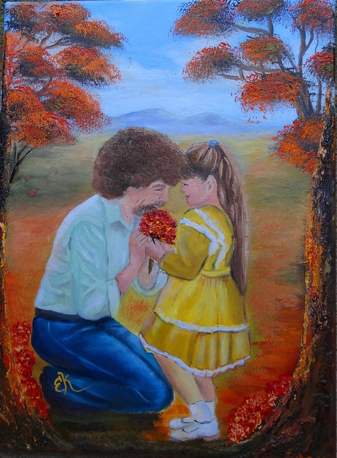 Landscape Portrait Painting - I Wish by Fineartist Ellen