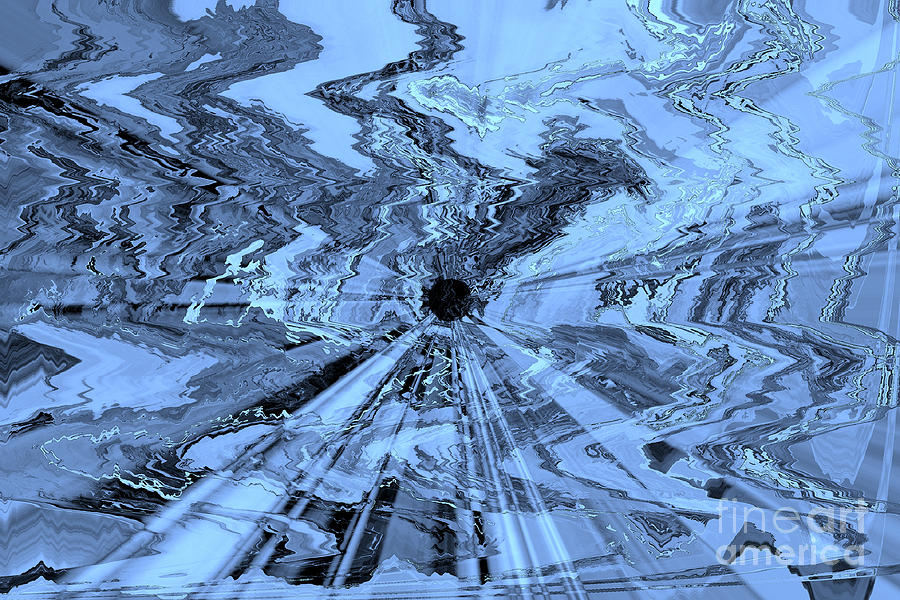 Blue Abstract Photograph - Ice Blue - Abstract Art by Carol Groenen