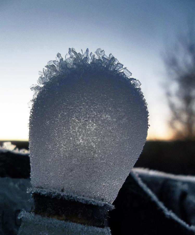 ice bulb photograph by wesley hahn