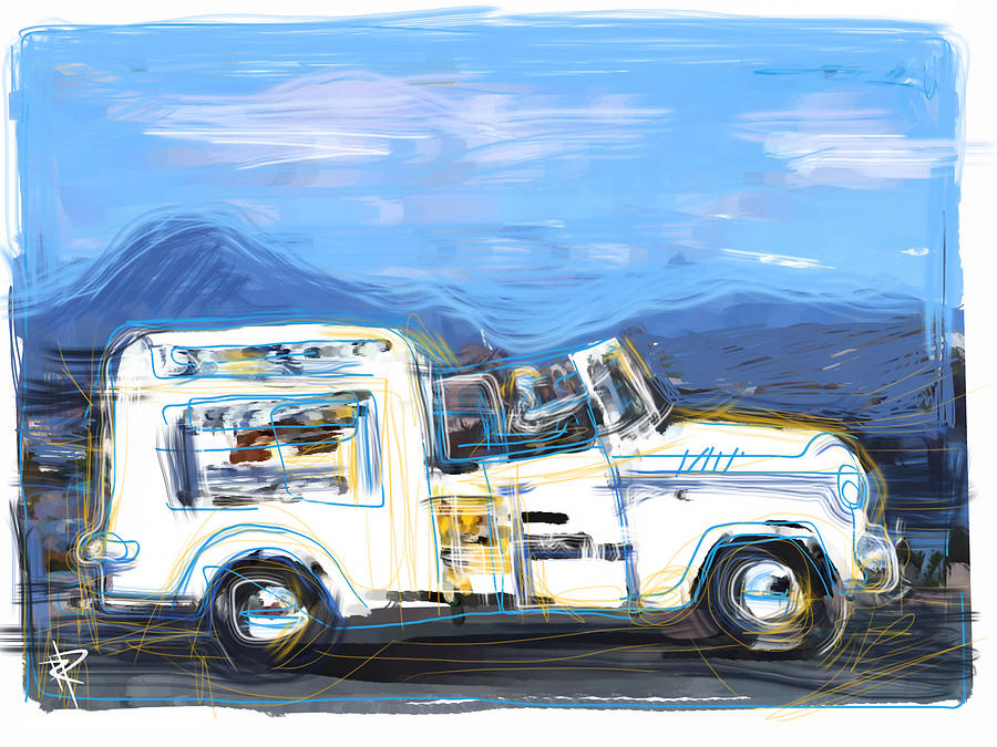 Ice Cream Mixed Media - Ice Cream Truck by Russell Pierce