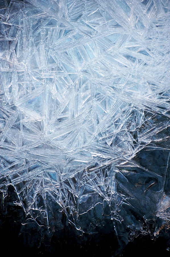 Vertical Photograph - Ice Crystal Patterns by Skye Hohmann